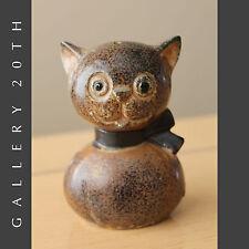 JAPAN MID CENTURY MODERN POTTERY CAT! Kitty Saltshaker Cute Interior Kitchen 50s