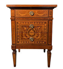 Italian Giuseppe Maggiolini Style Nightstand Side Table With Marquetry