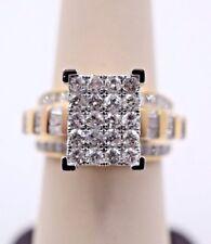 10k Yellow Gold & 2CT Diamond Ladies Ring