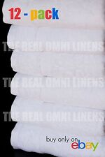 1 Dozen / 12 PC Luxury Hotel & Spa Towel Premium Cotton Bamboo White, Hand Towel