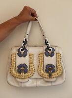 Original, used, Fendi White Python Snakeskin B Bag, Medium size, great condition