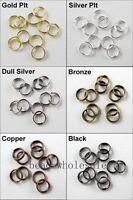 150-300pcs Silver/Gold/Copper/Bronze Tone Metal Split Rings Finding 4mm,5mm,6mm