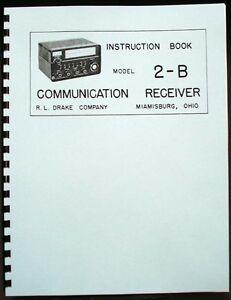 R.LDrake Drake 2B 2-B ShortWave Receiver Manual plus 2-BQ 2-AC Info