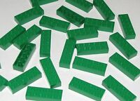 LEGO LOT OF 25  2 X 6 NEW GREEN BRICKS BUILDING BLOCKS PIECES PARTS