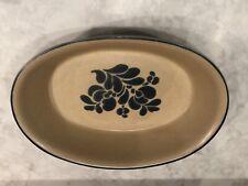 "Pfaltzgraff Folk Art Oval Baker #241 Oval 9 1/2"" Baking Dish Oven/Microwave Safe"