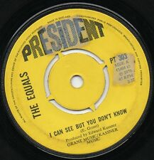THE EQUALS i can see but you don't know*gigolo sam 1970 UK PRESIDENT 45
