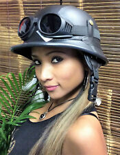 Chopper Helm incl. Brille -L- Helm incl. Brille Biker Helm Roller Helm  Bulzeye