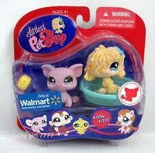 Littlest Pet Shop EXCLUSIVE Lavender PIG & MOP DOG PUPPY #1256 #1257 US Seller