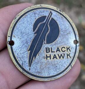 BLACK HAWK AUTOMOBILE TRUCK RADIATOR BADGE EMBLEM HOOD ORNAMENT SIGN