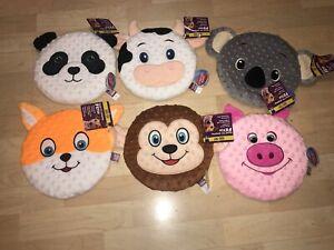 "NEW Multipet 9"" Flying Disk Frisbee Dog Toy MONKEY PANDA PIG COW KOALA CAT 0306A"