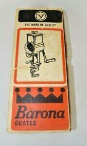 Vintage Vitantonio Barona Cheese Grater No. 500 Complete