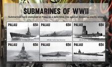 Palau 2015 - Submarines of World War One stamps - Sheet of 6 MNH