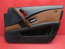 2006-2007 BMW 525i E60 OEM RIGHT FRONT DOOR PANEL TRIM COVER CARD RED ORANGE