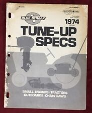 1974 Blue Streak Tune-up Specs for Small Engines-Tractors-Outboards-Chain Saws