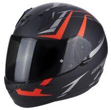 CASCO HELMET MOTO INTEGRALE SCORPION EXO 390 HAWK NERO ROSSO OPACO RED MATT TG M
