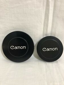 2 Vintage Canon Camera Metal Lens Caps 94mm & 78mm new old stock unused