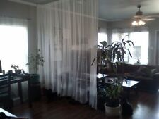 1 Pair IKEA LILL Sheer Curtains White Mesh Wedding Party Drapes