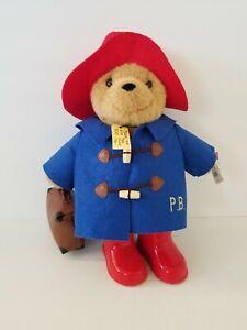 "Paddington Bear Luggage 14"" Plush Soft Toy Stuffed Animal boots"