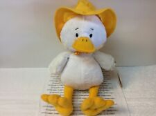 Duncan The Duck Ganz Plush White Duck With Yellow Rain Hat New With Tags Cute!