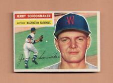 1956 TOPPS JERRY SCHOONMAKER BASEBALL CARD #216 - EX-MT CONDITION - NATIONALS