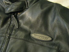 Harley Davidson FXRG Motorcycle Leather Jacket Armor Waterproof Lining Mens L