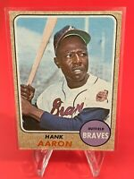 Hank Aaron 1968 Topps Baseball Card #110 Atlanta Braves HOF