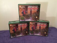 NEW 3 Boxes 150 Lights In Motion Clear Mesh Christmas Lights 6' by 4'