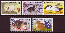 île de Man 1996 MANX CHATS Ensemble Non montés excellent état