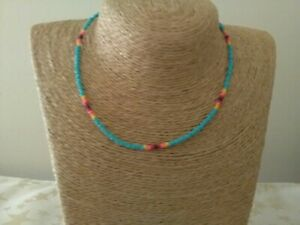 Handmade Seed Bead Native American Necklace 18 inch