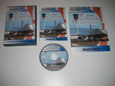 MEGA Airport LONDRA heathrow PC add-on Simulatore di volo Sim x 2004 Cockpit FS2004