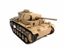 Complete Metal 1/16 Mato Panzer III RTR Ver Infrared RC Tank Yellow Color 1223