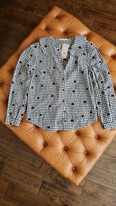 TU by Sainsburys Black and White Gingham Cotton Shirt Size 10