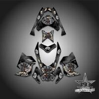 SKI-DOO REV XP SNOWMOBILE SLED GRAPHICS DECAL WRAP STICKER OUTLAW COWBOY BLACK