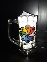 "Vintage Hershey Park Clear Glass Beer Mug Stein RARE Pennsylvania USA~ 5.5"" tall"