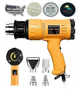 Pistola De Calor Temperatura Ajustable Hasta 650 Grados C Proteccion Sobrecarga