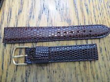 "New Old Stock LeJour Genuine Lizard Brown Watch Band  R 11/16"" 17MM"