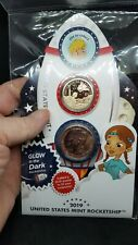 US MINT 2019 GLOWS IN THE DARK KIDS ROCKETSHIP COIN SET ☆In hand ready to ship☆