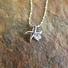 Hawaii Jewelry 925 Sterling Silver Starfish and Plumeria Flower Pendant SP81961