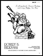 1981 SANTA CLAUS Delivers Rifles Revolvers TCR Muzzleloader Down the Chimney AD