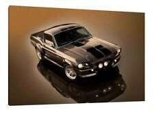 1967 Shelby GT 500 Ford 'Eleanor' - 30x20 Inch Canvas - Framed Picture Print