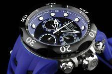 INVICTA 16988 MEN'S VENOM COBRA BLACK & BLUE RUBBER STRAP CHRONOGRAPH WATCH
