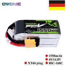Ovonic 14.8V 1550mAh 4S 80C LiPo Akku XT60-Stecker Für FPV RC Drohne Quadcopter