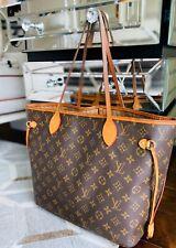 Authentic LOUIS VUITTON Monogram Neverfull MM Tote Bag PVC/leather