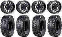 """Raceline Trophy 15"""" Black Wheels 35"""" Chicane RX Tires Can-Am Maverick X3"""
