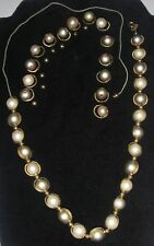 Vintage Costume JEWELRY for Parts or Repair Necklace Beads Faux cultured Pearls