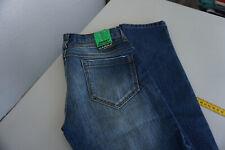 KARMA Damen Jeans skinny röhre schmal Hose 34/32 W34 L32 used acid blau NEU AD33