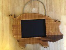 Wooden Pig Chalk Board Kitchen