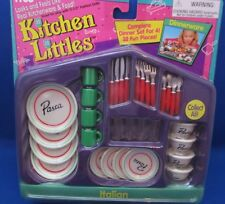 Tyco~Kitchen Littles~Barbie Accessories~Italian Dinnerware~32 Fun Pieces~1995