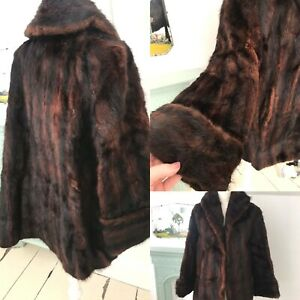 Vintage FUR COAT JACKET  Soft Gorgeous Pinup Glam Winter VTG Size 14 16