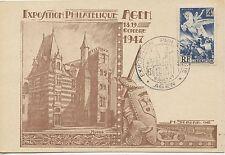 CARTE POSTALE EXPOSITION PHILATELIQUE DE AGEN 1947